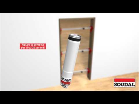 Installazione di porta interna con schiuma PU monocomponente uso pistola