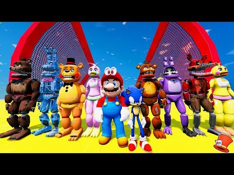 ANIMATRONICS SUPER MARIO ODYSSEY & SONIC THE HEDGEHOG STUNT