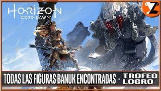 Horizon Zero Dawn - Trofeo Todas las figuras Banuk encontradas (All Banuk Figures found)