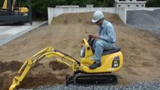 Komatsu micro shovel PC01