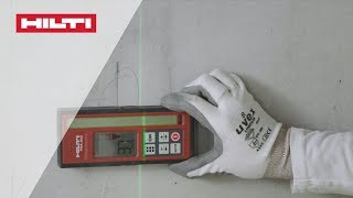 HOW-TO align drywalls with Hilti PR 30-HVSG