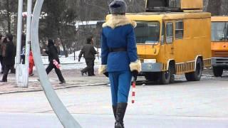 Lovely North Korean Traffic Girl