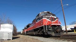 Providence & Worcester SD70M-2 on ethanol train 1/15/2017