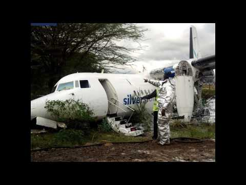 Injuries reported as Silverstone Air plane skids off runway in Nairobi with 55 aboard