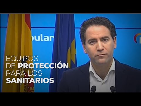 Equipos de protección para los sanitarios.