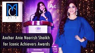 Senior Anchor Anie Noorish Shaikh hosted Iconic Achievers Awards | WBR Corp | Awards Show