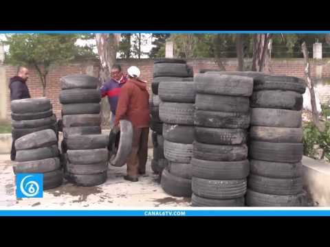 Chicoloapan se une a campaña estatal de recolección de llantas