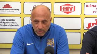 Izjava trenera,kapitena i golmana Dinama pred meč sa Proleterom