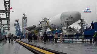 One more step toward the launch! The Soyuz-2.1b ILV with the Meteor-M satellite is installed!