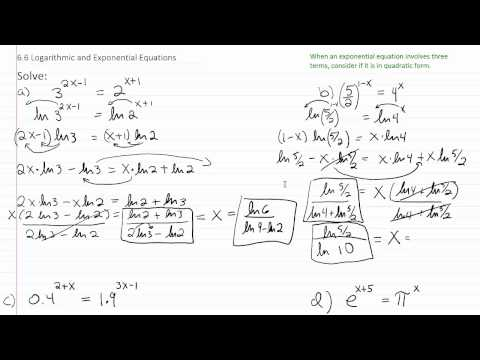 Solving Exponential & Log Equations p5