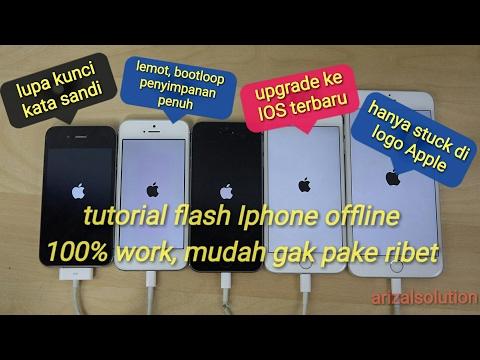 Video Cara Flashing Iphone Stuck Di Logo Apple, Sambung ke iTunes