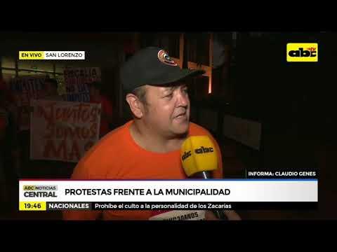 San Lorenzo: protesta frente a la Municipalidad