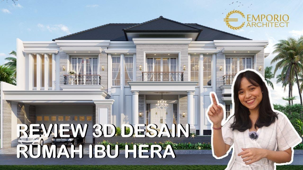 Video 3D Mrs. Hera Classic House 2 Floors Design - Jakarta Selatan