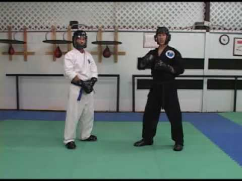 Sport Karate Adding the overhead ridge hand part 2