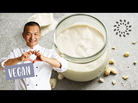 Vegane Sahnecreme aus Cashews
