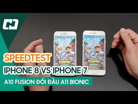 Speedtest IPHONE 8 vs IPHONE 7 - Chip A11 Bionic có tạo nên BỨC PHÁ !! | Hoàng Hà Channel