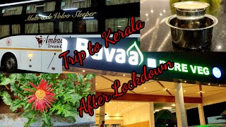 Bangalore to Kerala Trip| Video #96 | After Lockdown| KSRTC Bus Travel| Sleeper Bus Review | E Pass