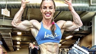 Hard Muscle Girl Eleonora Dobrinina Flexing Her Big Muscles [Mr Betven]