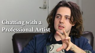 Chatting with a Professional Artist