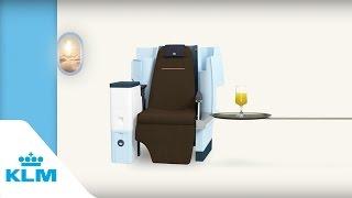 Get comfortable in KLM Business Class