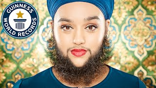 Youngest female with a full beard - Meet the Record Breakers