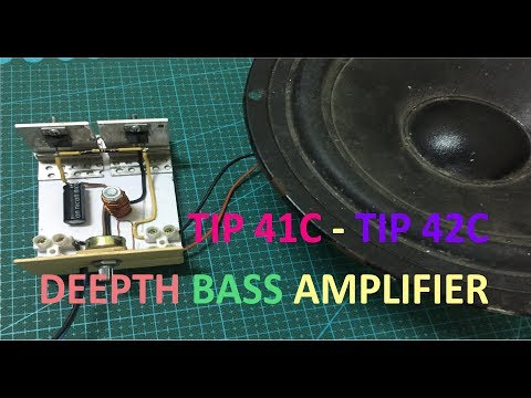 Ultra Deep Bass Amplifier Using TIP41C and TIP42C Transistor