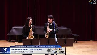 DUO D. KIM & Y. LEE play Konzerstuck by P. Hindemith #adolphesax