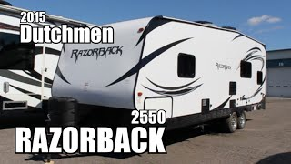 2015 Dutchmen Razorback 2550 | Toy Hauler Travel Trailer