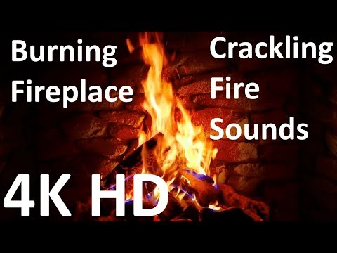 4K Relaxing Fireplace with Crackling Fire Sounds 🔥 - No