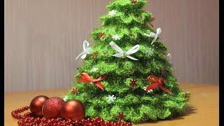 Как связать елочку крючком   how to knit crochet Christmas tree