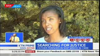 Woman searches for answers after a ship sailing from Mombasa disappears in the Indian Ocean
