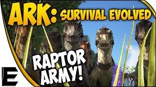 ARK Survival Evolved Gameplay ➤ RAPTOR ARMY! - NEW MINI SERIES #2