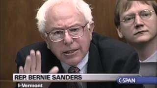 Bernie Sanders Confronts Alan Greenspan