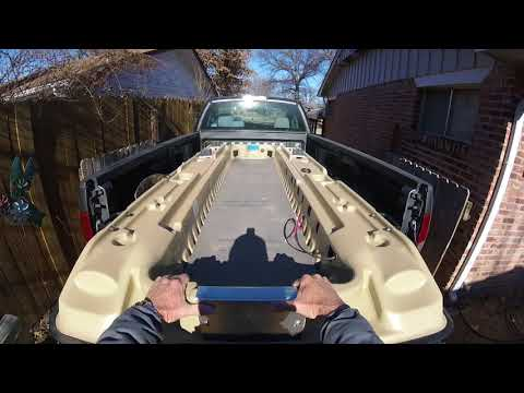 Pelican Bass Raider How To Load The Boat In A Small Truck