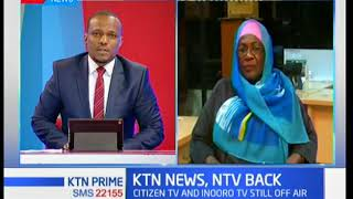 Maimuna Mwidau's take after the TV stations were switched back on