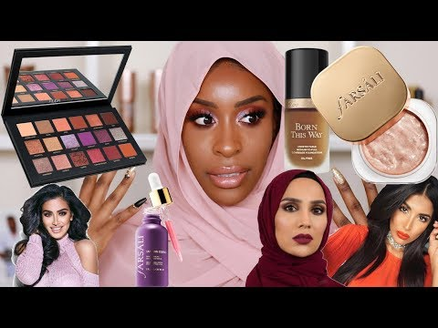 Full Face of Muslim Owned/Halal Beauty Products Tutorial!
