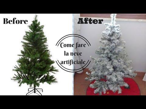 DIY SNOW FLOCKING | Come fare l'albero effetto neve