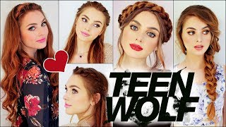 Lydia Martin From Mtv TEEN WOLF Braided Hairstyles | Holland Roden Tutorial