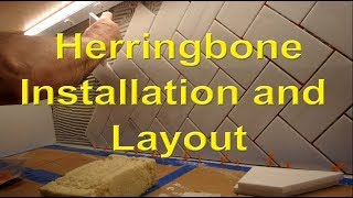 Diagonal Herringbone Kitchen  Backsplash Step By Step Layout And Installation