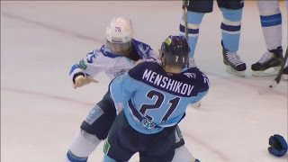 Бой КХЛ: Меньшиков VS Рыспаев / KHL Fight: Menshikov VS Ryspayev