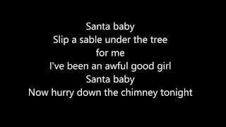 Ariana Grande & Liz Gillies - Santa Baby (Lyrics on Screen)