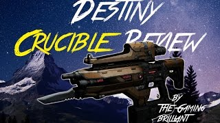 DESTINY PLAN-C CRUCIBLE REVIEW [ Exotic Weapon ] [ The Taken King ] [ Year 2 ]