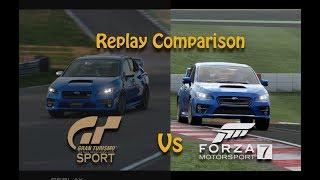 Forza Motorsport 7 Vs Gran Turismo Sport | Brands Hatch GP, Replay Comparison