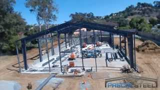 Time Lapse of Steel Building Being Erected for Church in Bonita, CA