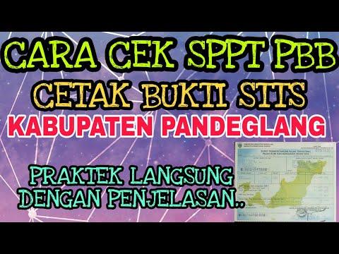 Cara Cek Tagihan SPPT PBB Dan Cetak Struk STTS Online 2019