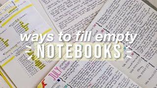14 ways to fill an empty NOTEBOOK || PaulaBee