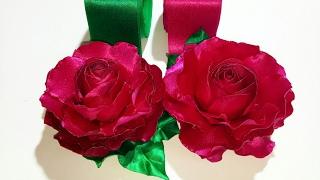 DIY- Fabric Flower- 2- Dark Pink Rose Blossom