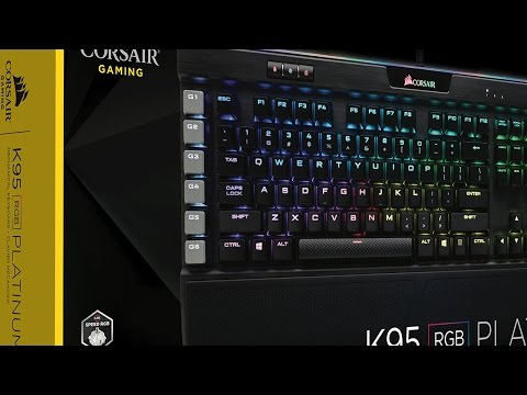 CORSAIR K95 RGB PLATINUM mechanical keyboard - Product Overview
