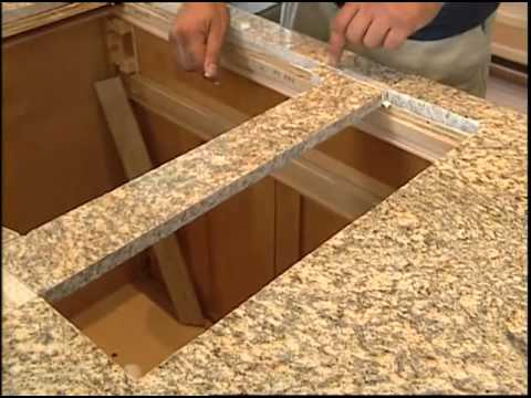 Installing a Granite Countertop and Kitchen Cabinets