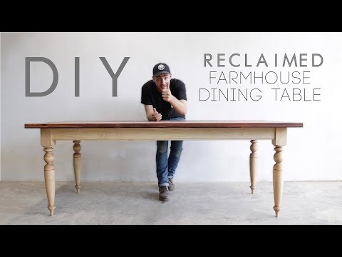 Building A Reclaimed Wood Top Dining Table | Modern Builds | EP. 70